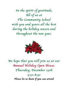 Holiday Open House Invitation 2013
